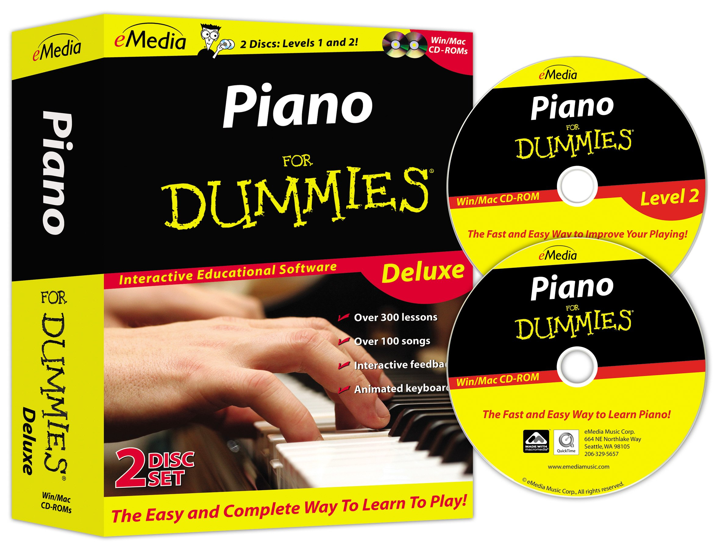 eMedia Piano For Dummies Deluxe (2 volume set) by eMedia