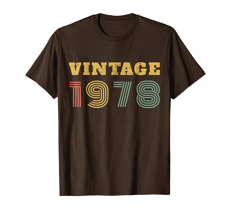 40th Birthday Gift Vintage 1978 Year T-Shirt-Rose