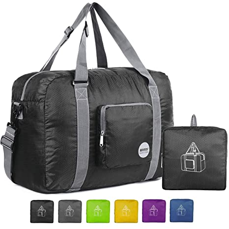 684c30d7638a Wandf Foldable Travel Duffel Bag Luggage Sports Gym Water Resistant Nylon