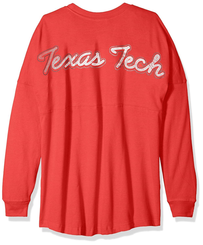 NCAA Texas Tech Red Raiders Womens NCAA Womens Long Sleeve Mascot Style Teeknights Apparel NCAA Womens Long Sleeve Mascot Style Tee X-Small Athletic Red
