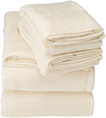 Peak Performance SHET20-595 Sheet Set Full Ivory best full-sized fleece sheets