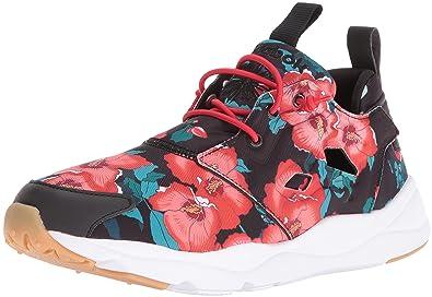 6db745d2906 Reebok Women s Furylite fg Fashion Sneaker Floral Black Scarlet White 5 ...