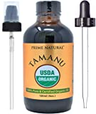 Prime Natural Organic Tamanu Oil - Cold Pressed, Unrefined, Virgin (4oz / 120ml) for Hair, Nails, Skin Care