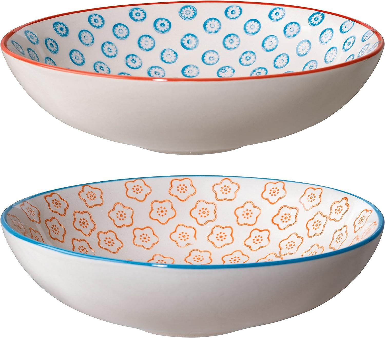 Multicolore Assiette /à soupe Emma C/éramique Bloomingville