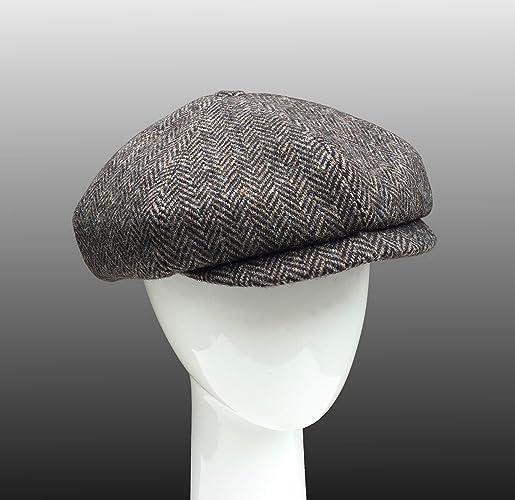 a67c22aa Amazon.com: Shelby Newsboy Bakerboy Peaky Blinders Cap Hat Bespoke: Handmade