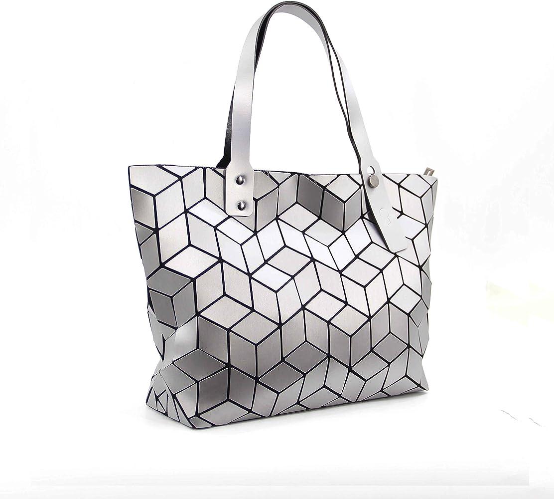 Geometric Lattice Handbags for Women Top-handle Tote purse handbag shoulder bag