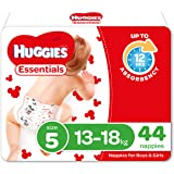 Huggies Essentials Nappies, Size 5 Walker (13-18kg), 44 Count