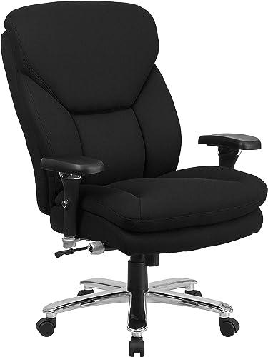 Flash Furniture HERCULES Series 24/7 Intensive Use Big Tall 400 lb. Rated Black Fabric Executive Ergonomic Office Chair
