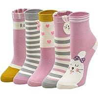 PUTUO Calcetines Divertidos Niña Calcetines de Navidad Calcetines Animales, Calcetines de Algodón para Niñas, 2-11 años…
