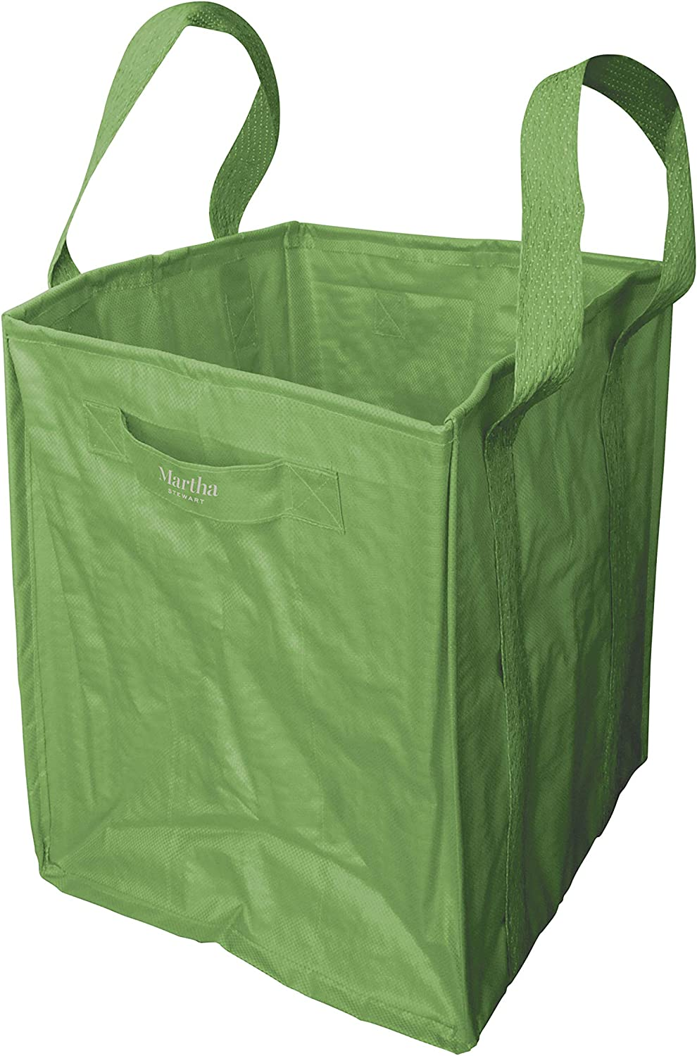 MARTHA STEWART MTS-MLB1 48-Gallon Multi-Purpose Reusable Heavy Duty Garden Tote Bag, Bay Leaf Green