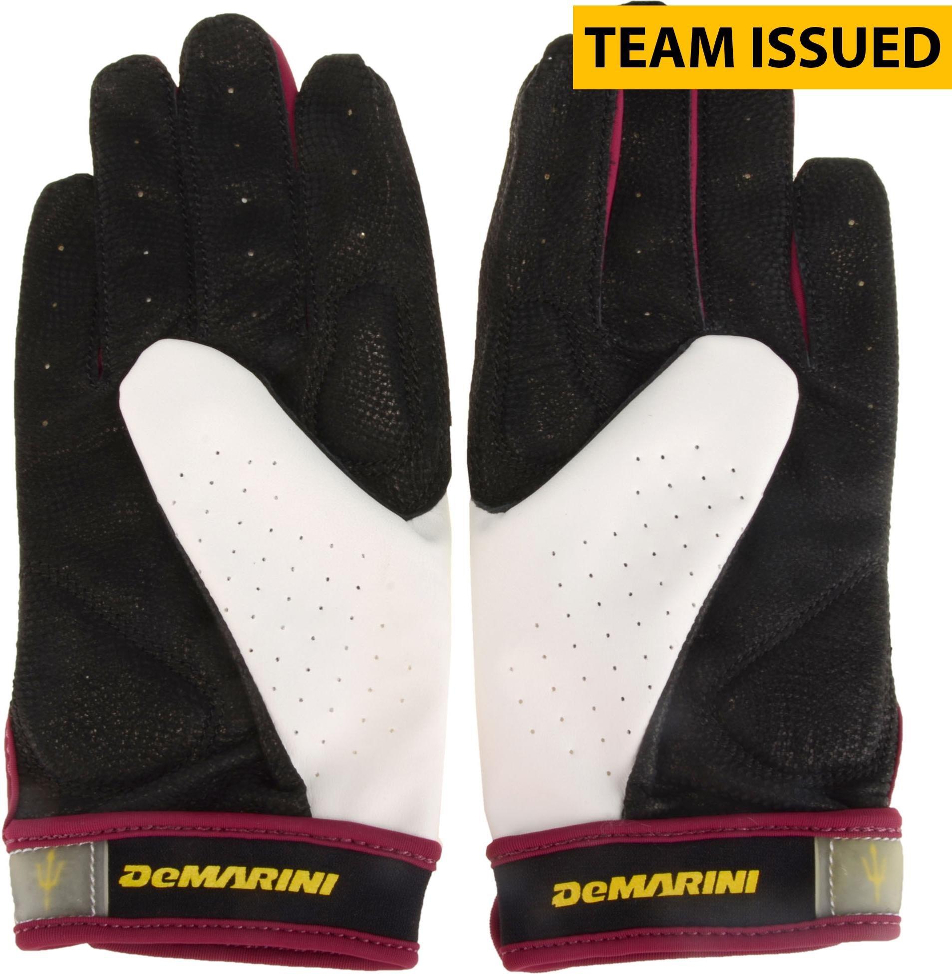 Arizona State Sun Devils Team Issued Maroon and White DeMarini Pair of Softball Gloves Size Medium Fanatics Authentic Certified
