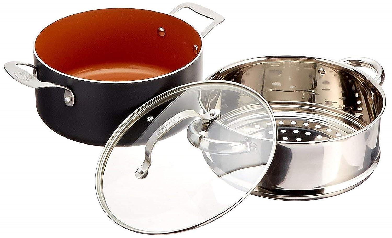 Gotham 12 piezas de acero cobre Utensilios de cocina antiadherente ...