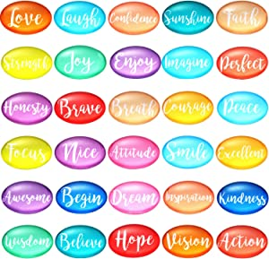Boao 30 Pieces Inspirational Refrigerator Magnets Motivational Quote Fridge Magnets Glass Decorative Magnets for Fridge Office Classroom Whiteboard Locker