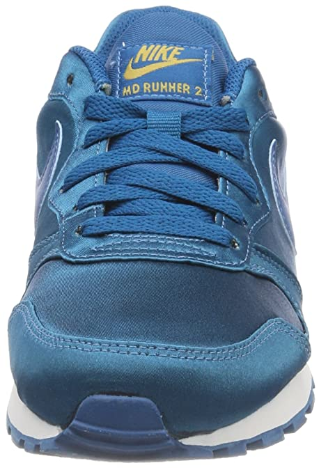 MD Runner 2, Zapatillas para Mujer, Verde (Green Abyss/Green Abyss-Metallic Gold 302), 37.5 EU Nike