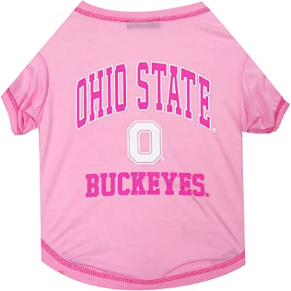 half off a4f7c 2478a NCAA Ohio State Buckeyes Pet Pink T-Shirt, Small. - Dog Pink Outfit