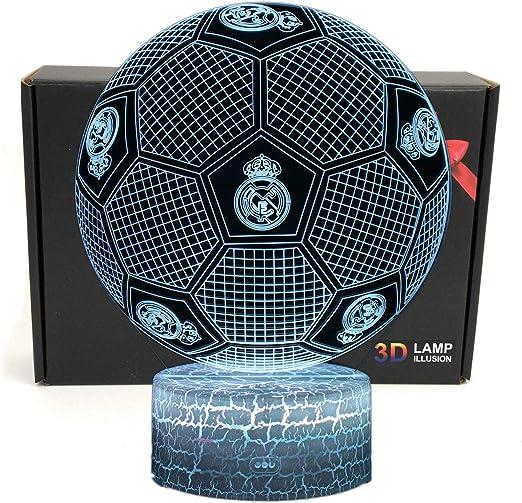 Deal Best Fútbol Forma 3d ilusión óptica Smart 7 colores LED luz ...