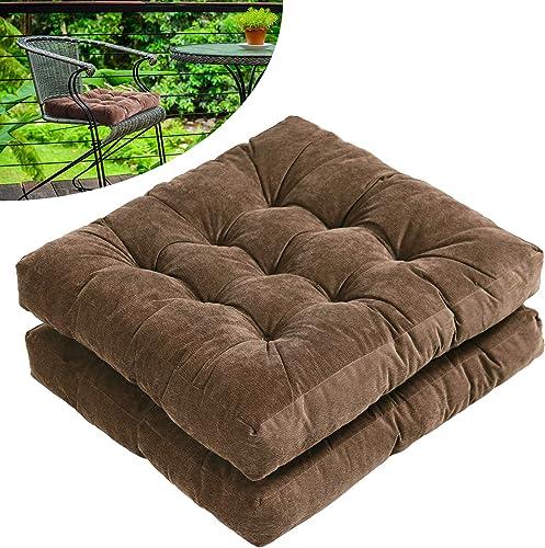 Tiita Outdoor Chair Cushions Square Floor Pillows Thicken Tufted Patio Seat Cushion Pad