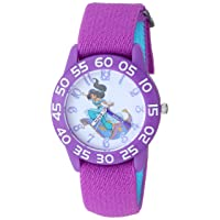 Girls Aladdin Analog-Quartz Watch with Nylon Strap, Purple, 15.9 (Model: WDS000655)