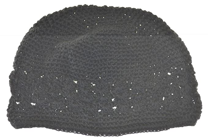 2fa49b6f3cc Image Unavailable. Image not available for. Color  MM Kufi Hat Crochet Cap  Beanie Black