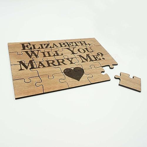 amazon com unique custom personalized wood puzzle wedding