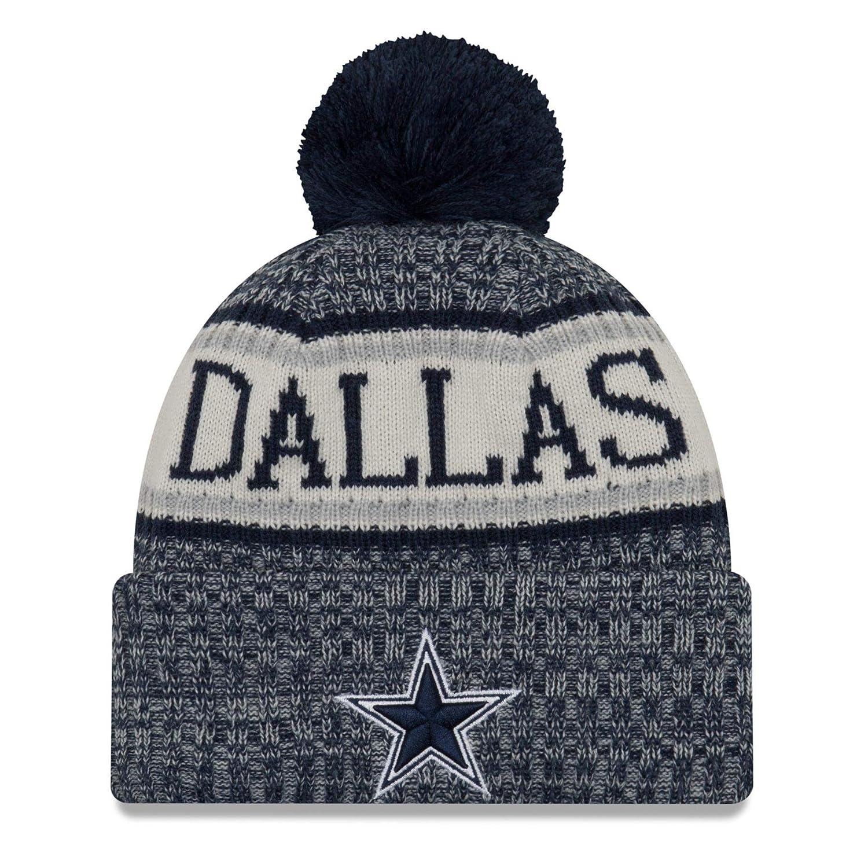 Amazon.com  New Era Dallas Cowboys NFL On Field 18 Sport Knit Beanie Beany  Mütze  Clothing d37caa778