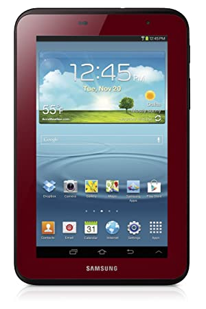 Samsung Galaxy Tab 2 7.0 Red - Tablet (Minitableta, Android, Pizarra, Android