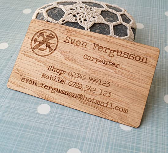Amazon business cards set of 50 veneer business cards laser business cards set of 50 veneer business cards laser engraved wooden veneer cards reheart Images