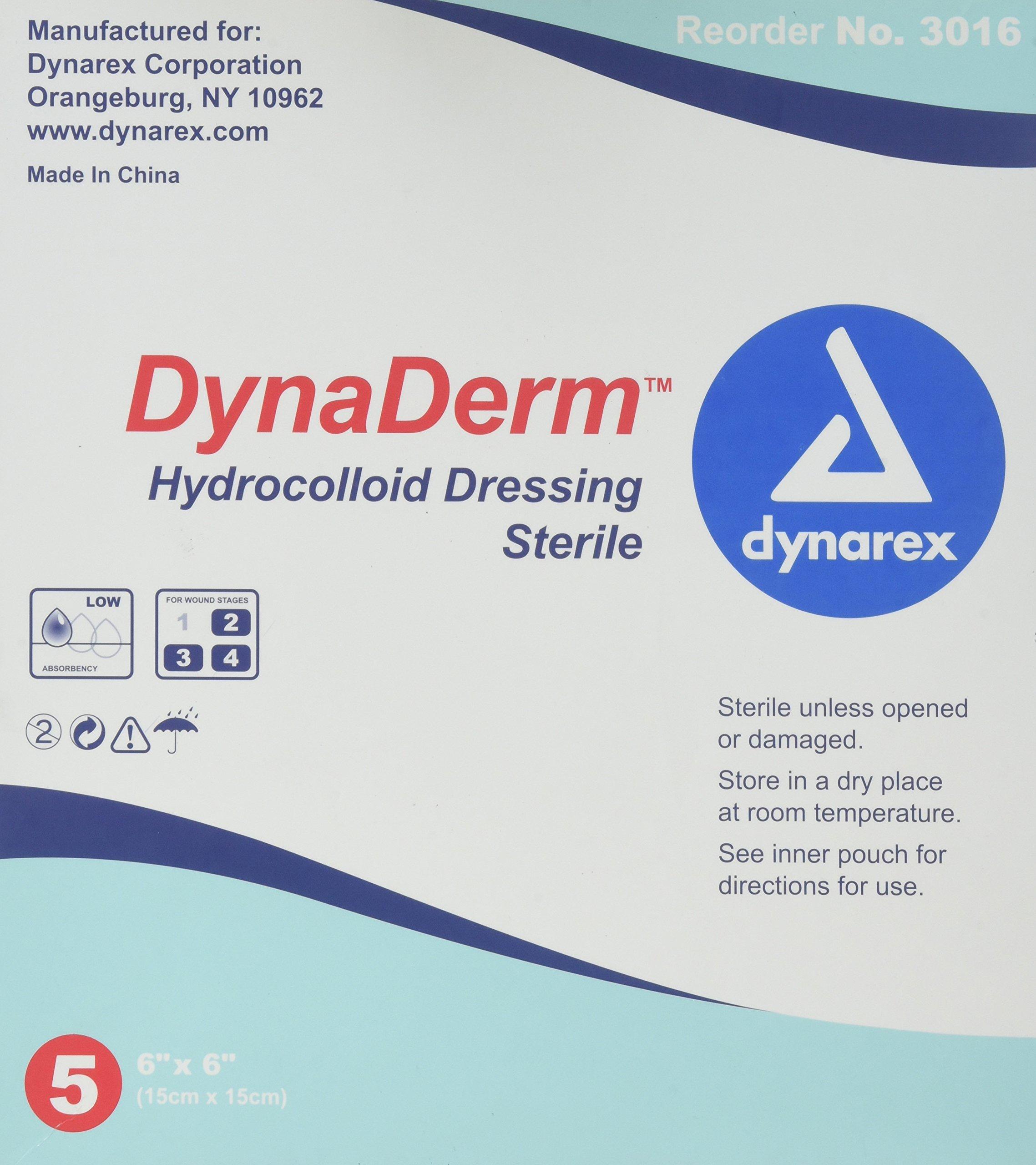 Amazon.com: Dynarex Dynaderm Hydrocolloid Dressing, Thin ,4 x 4 Inch ...