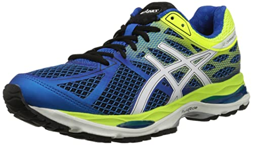 ASICS Men's Gel-Cumulus 17 Running Shoe, Electric Blue/White/Flash Yellow