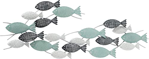 WHW Whole House Worlds School of Fish Metal Wall Decor Art
