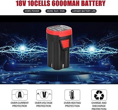 Kkmoon 18v Elektrischer Ratschenschlüssel 3 8 Inch 80n M 240rpm Power Ratschenschlüssel Mit Einem 6 0ah Lithium Ionen Akku Und Einem 6 Teiligen Metrische Buchse 2 Batterien Baumarkt