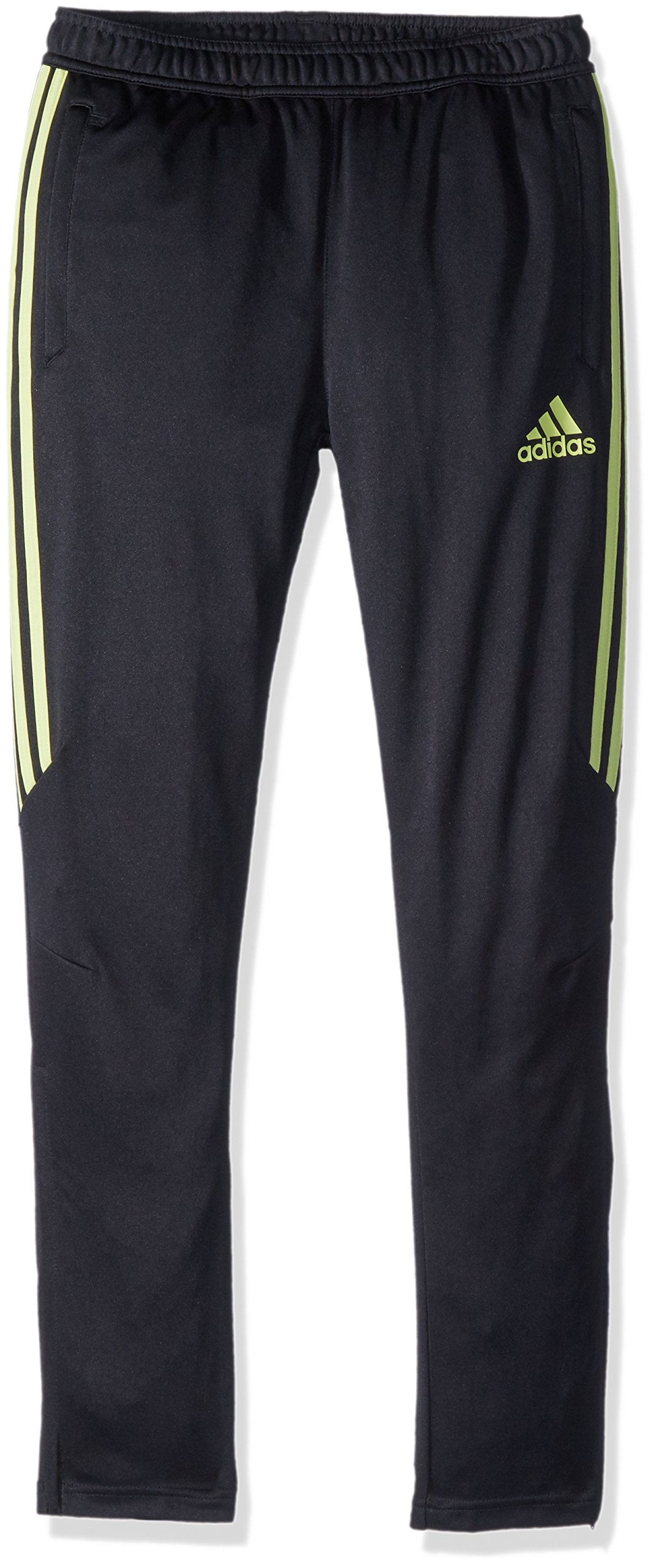 adidas Boys Soccer Tiro 17 Training Pants, Black/Semi Frozen Yellow, Small