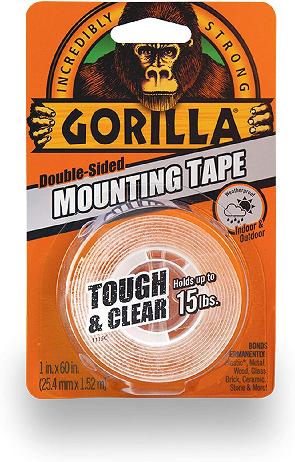 BLACK 2 pack GORILLA Double Sided Mounting Tape