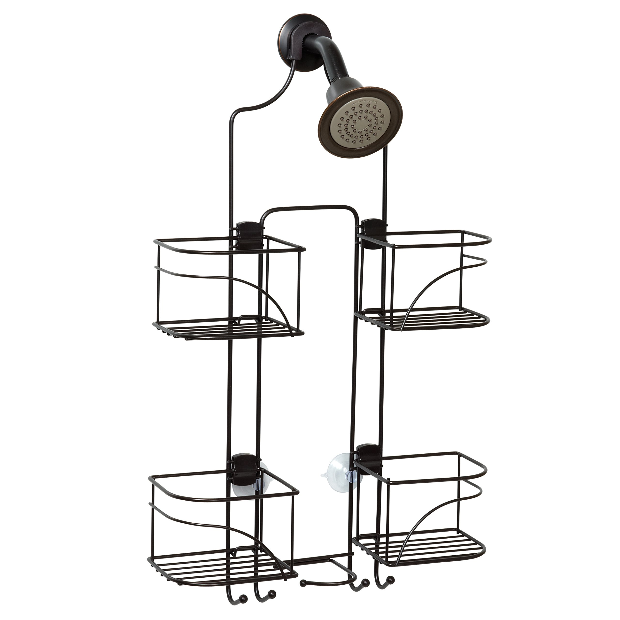 Zenna Home E7446HB, Expandable Over-the-Showerhead Caddy, Bronze