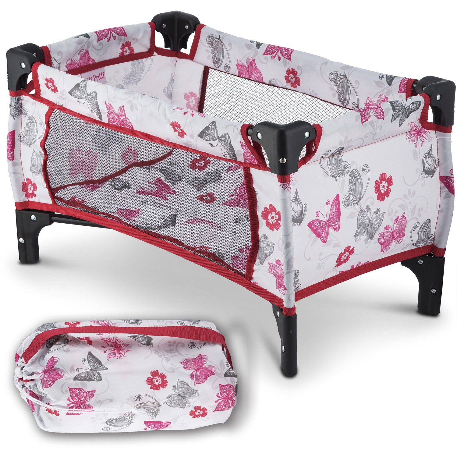 Litti Pritti Take Along Travel Crib Pack and Play Accessory for Dolls - Perfect for 18 Dolls