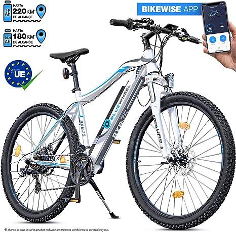 Bluewheel innovadora e-Bike de 27,5/29 Pulgadas y 14,4/16Ah - Marca de Calidad Alemana – Pedelec Conforme a Las Normas de EU - App - Motor de 250W - Bicicleta Eléctrica batería Iones