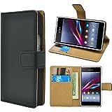 Sony Xperia E1 E1 Dual Bookstyle - iProtect pochette en cuir synthétiquee en étui de protection noir