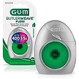 GUM ButlerWeave Waxed Dental Floss, Rewindable Dispenser, Mint, 200 Yards (Pack of 6)