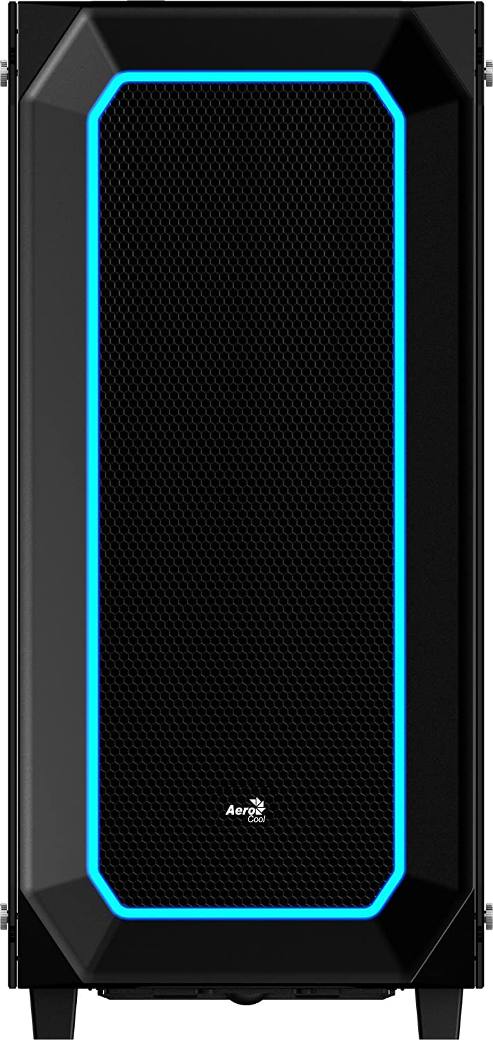 AeroCool P7-C0 Dual Tempered Glass Window with RGB LEDs Mid Tower Case Black