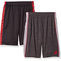 Pro Athlete Boys' Athletic Active Basketball Shorts with Pockets (2 Pack)