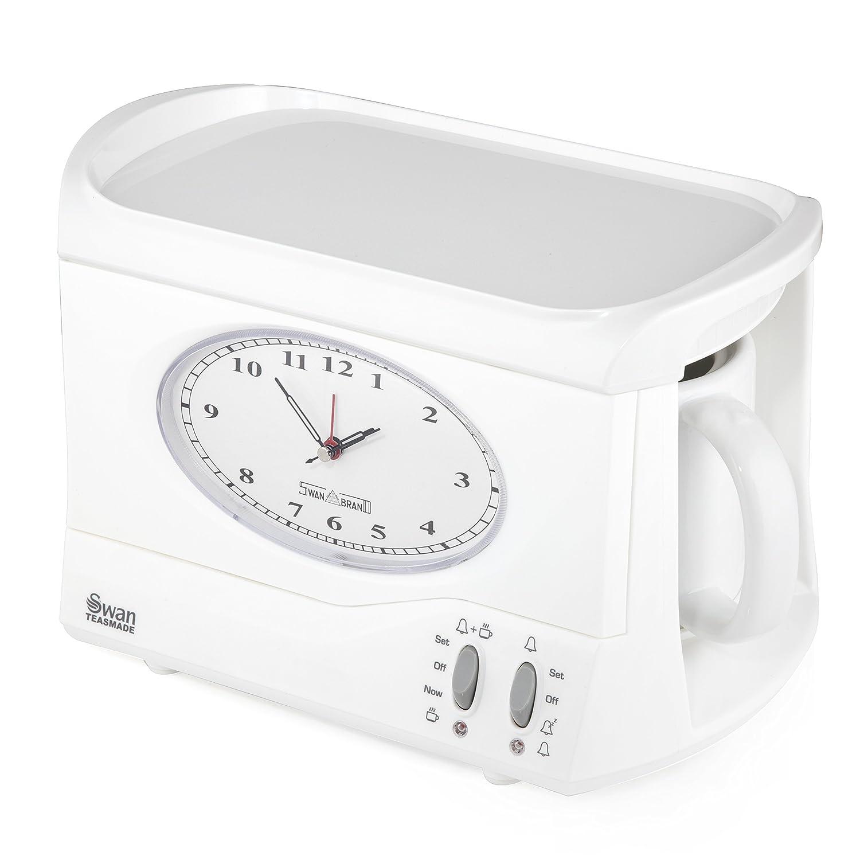 SWAN Vintage Teasmade Clock Alarm, 0.6 Litre, 850 W, White by Swan Products Ltd B0144OPWOG