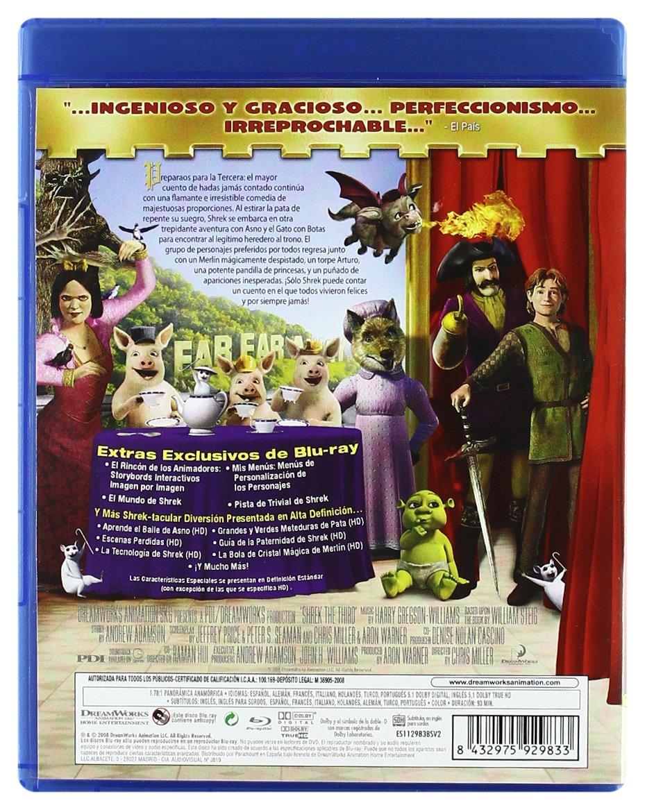 Shrek Tercero - Blu-Ray [Blu-ray]: Amazon.es: Chris Miller ...