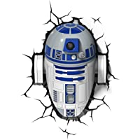 Star Wars FX14233 Lampara 3D de Pared R2 D2, Multicolor