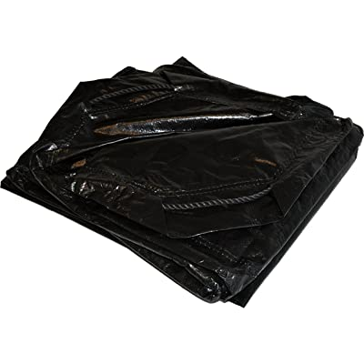 6' x 6' Dry Top Black Drawstring 8-mil Poly Tarp Item #500660