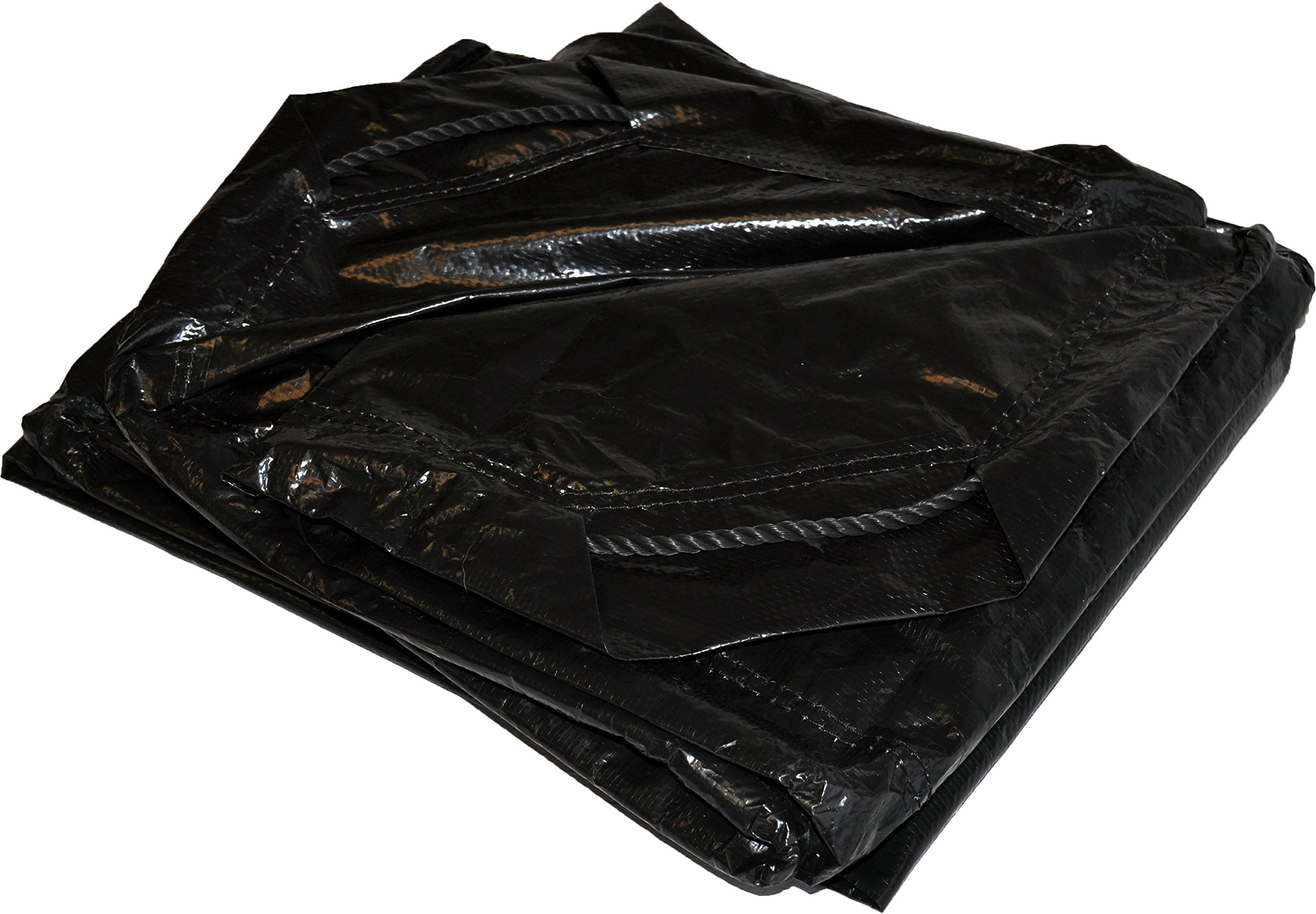 6' x 6' Dry Top Black Drawstring 8-mil Poly Tarp Item #500660 by DRY TOP
