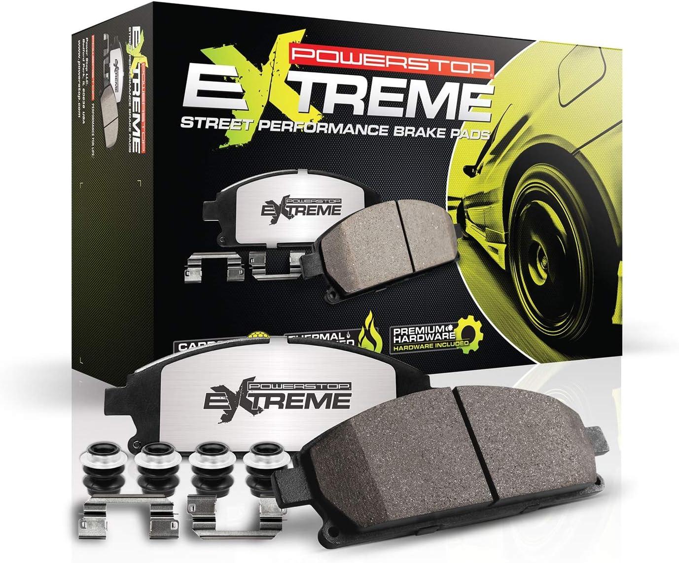 Power Stop Z26-1718 Z26 Extreme Performance Carbon-Ceramic Rear Brake Pad Set