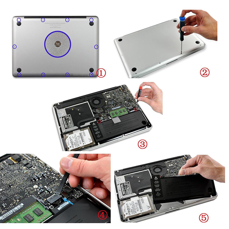 Batería de Ordenador Portátil Para Apple A1322 10.95 V 63.5 WH Apple MacBook Pro 13 Unibody A1278 ((MID 2009 a Mid 2012) mc375d / A; MB991LL / A Versión de ...
