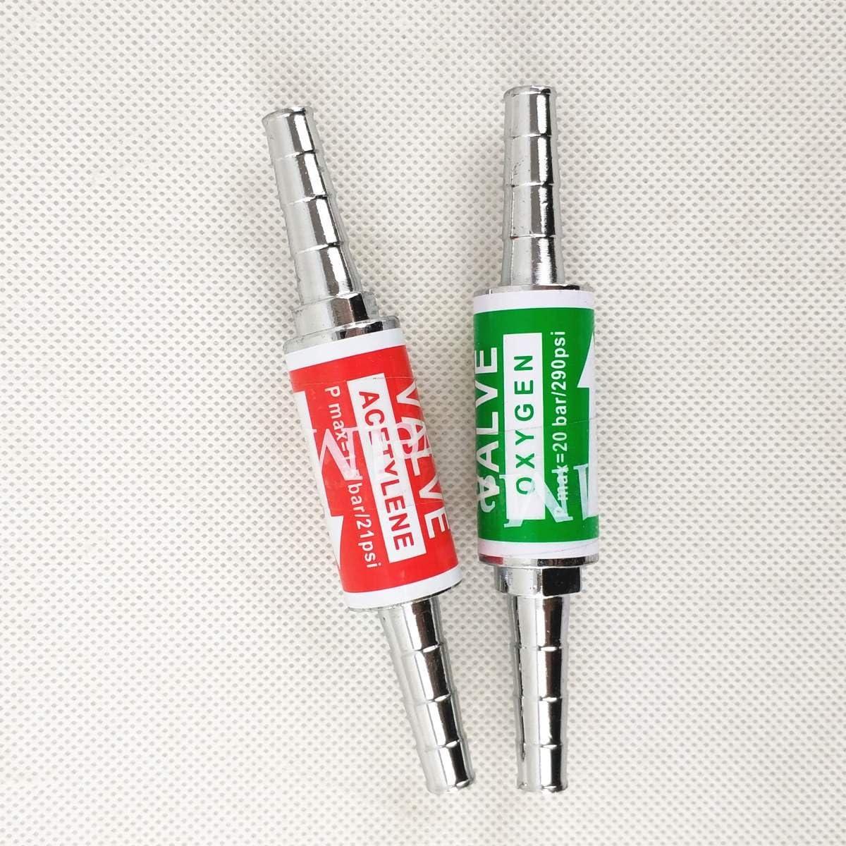 Flashback Arrestors 8mm Pipe Inner Dimension Version Oxygen Acetylene//Fuel Safety Valve Flame Buster
