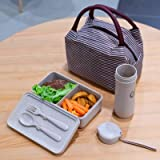 Eco-Friendly Wheat Straw Lunch box set for kids/adults Food Container - Set of 3 - Perfect Lunch/Food Storage Box and water/juice 10 oz cup storage bag, Reusable, BPA-Free, Dishwasher/Microwave Safe