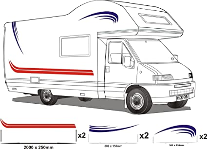 Smarts-Art - Vinilo adhesivo para autocaravana, varios colores, 9 ...